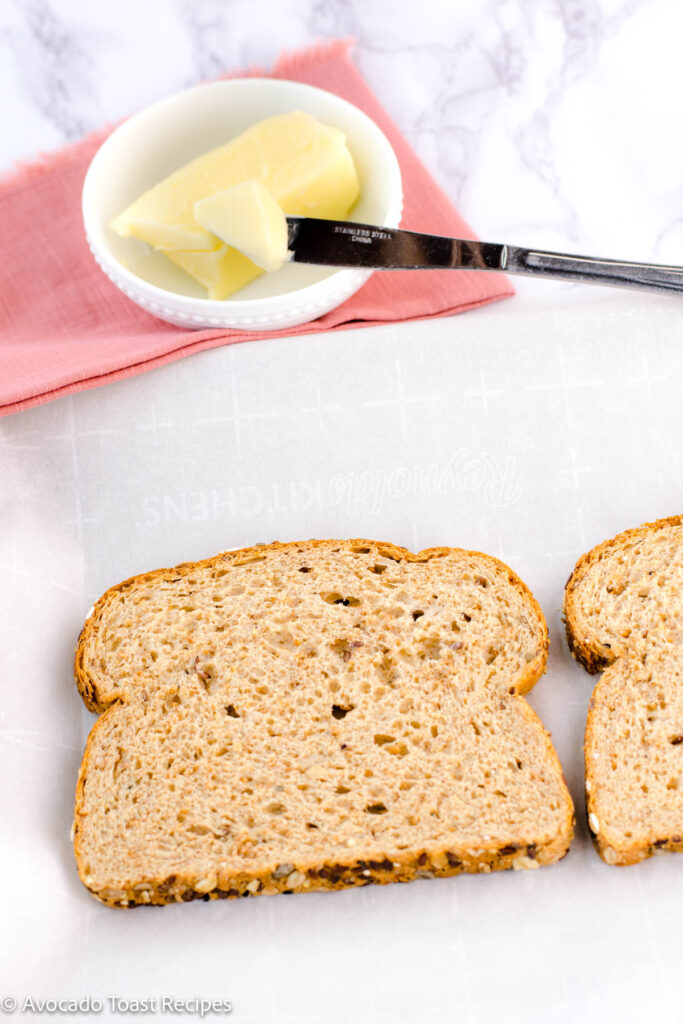 Wheat bread for cheese toast