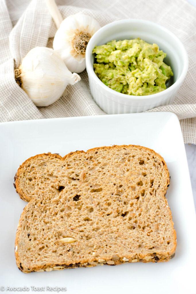 Toasted wheat bread for avocado toast