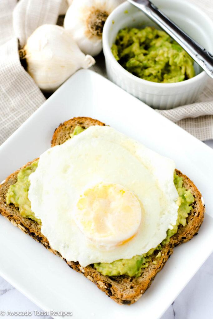 Over medium egg on toast