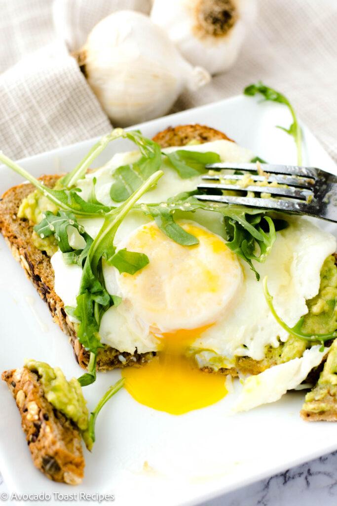 arugula on avocado toast - topping idea