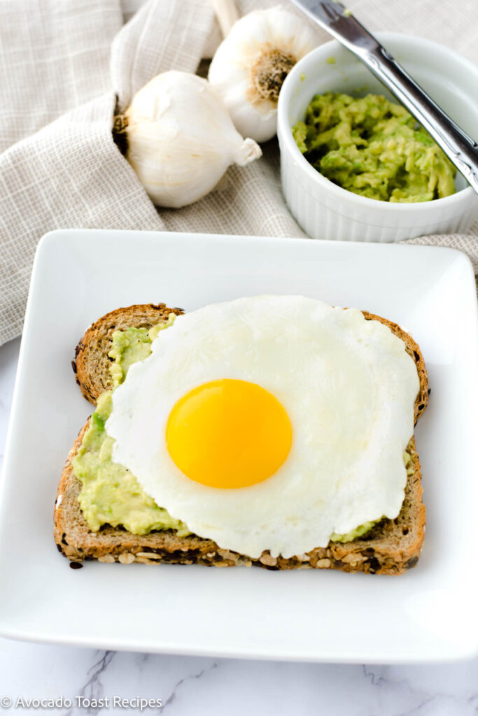 Over easy egg on toast