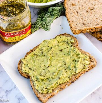 Pesto Avocado Toast Recipe