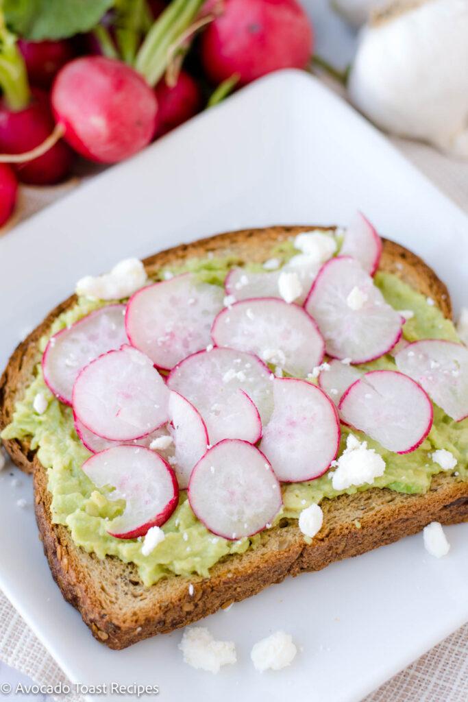 Avocado toast with radish