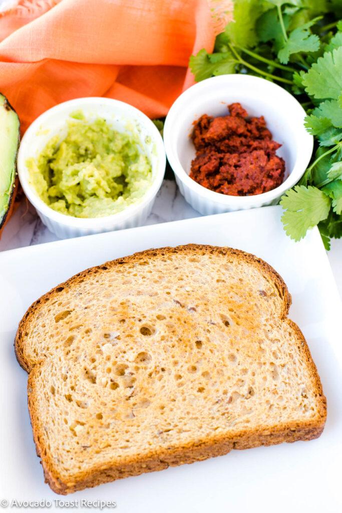 Chorizo and egg avocado toast recipe