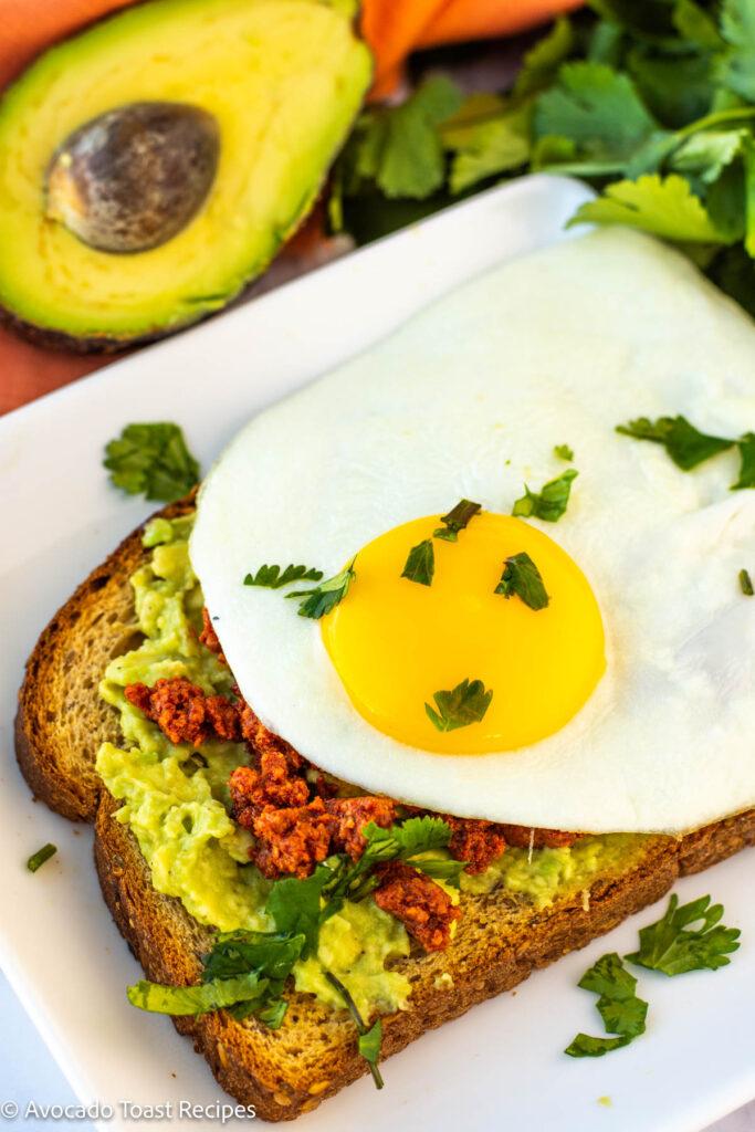 chorizo avocado toast