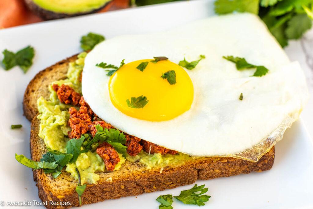 chorizo and egg avocado toast