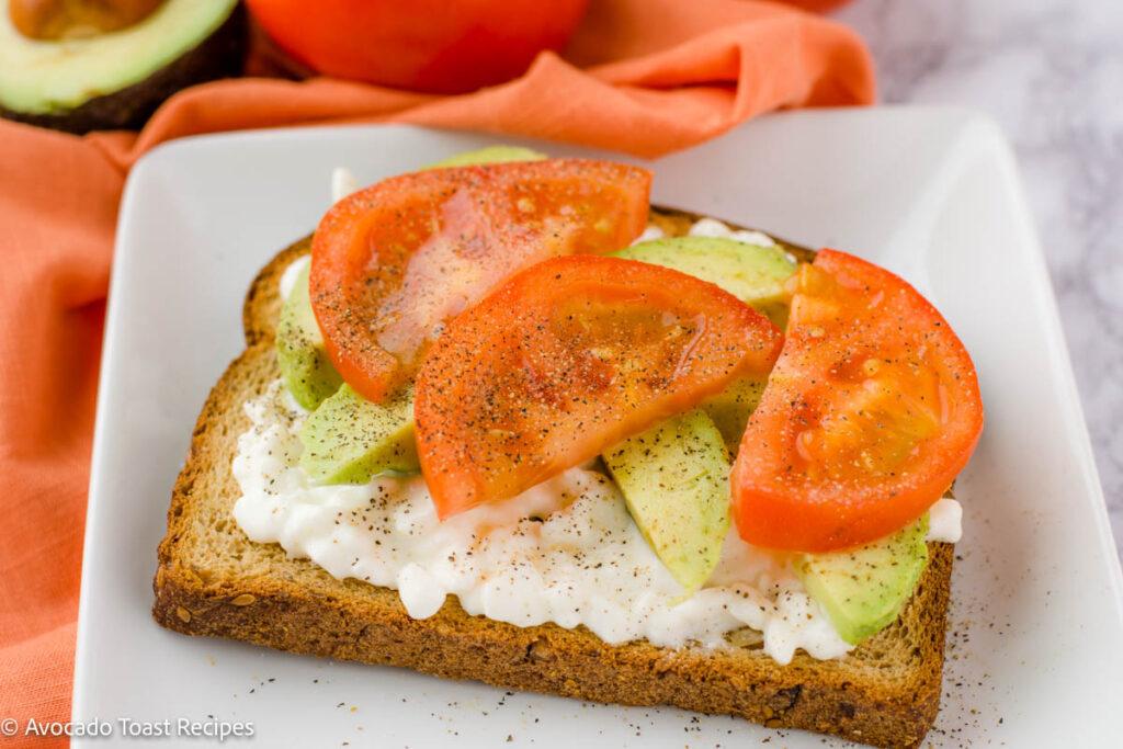 cottage cheese avocado toast