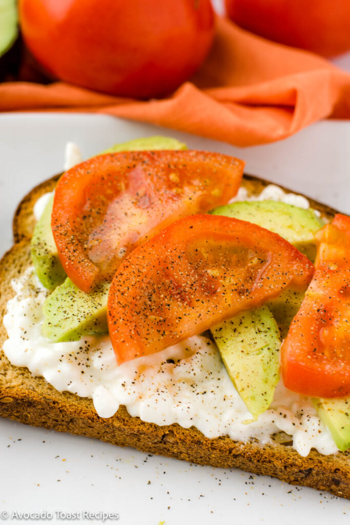 Cottage cheese on avocado toast
