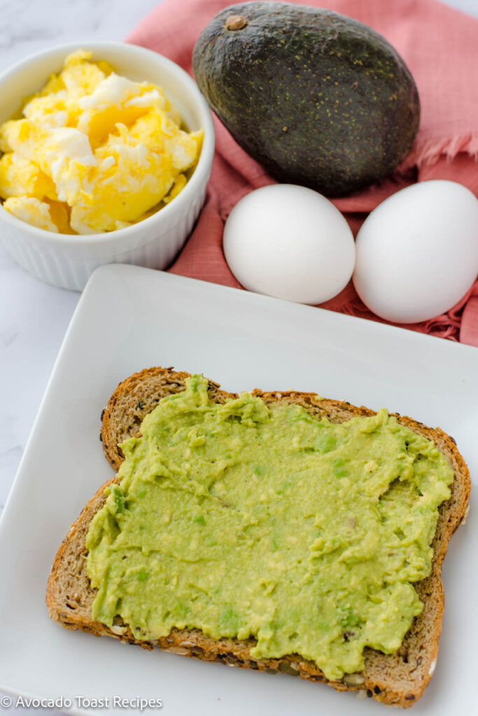 Scrambled egg with avocado toast directions