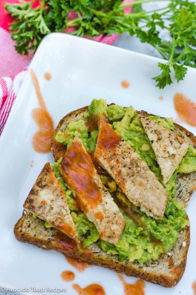 Tofu avocado toast