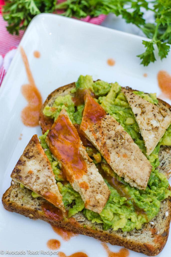 Avocado toast recipe with tofu